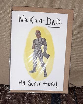 """Greetings card - """"Wakan-dad"""""""