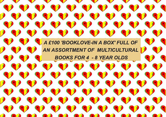 £100 'BOOKLOVE-IN-A-BOX' FOR 4 - 8 YEAR OLDS