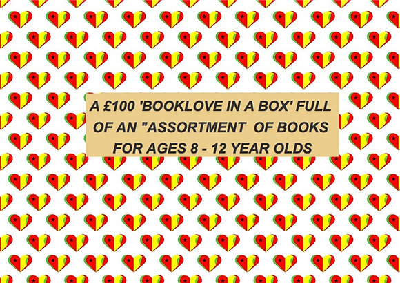 £100 'BOOKLOVE-IN-A-BOX' FOR 8 - 12 YEAR OLDS