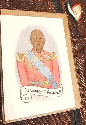 "Greeting card - ""The grandest grandad!"""