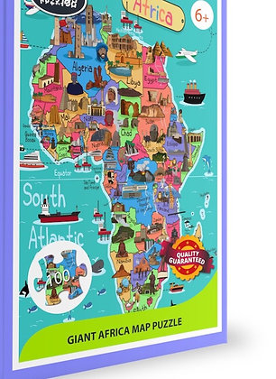 GIANT AFRICA MAP PUZZLE, 100 Pieces AVAILABLE MID JAN