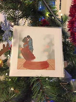 Christmas card - snow globe