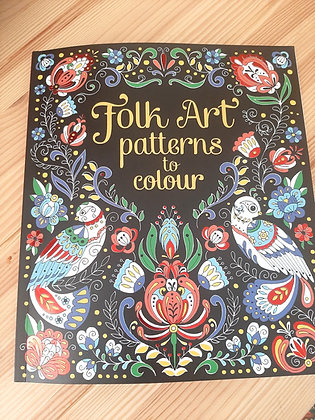 Folk Art Patterns to Colour