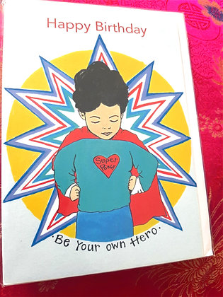 Greeting Card, Be Your Own Hero