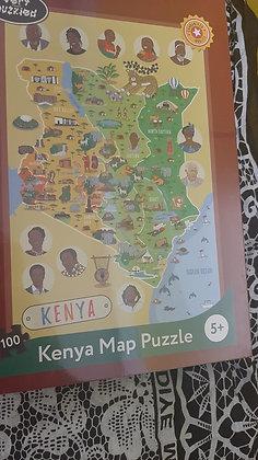 Kenya Map 100 Piece Puzzle
