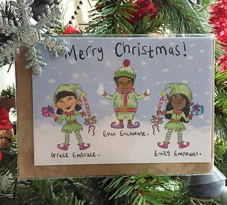 "Christmas card - ""Grace embrace"""
