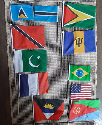 Flags. We stock every country.CLICK ON PHOTO TO SCROLL THROUGH ALL COUNTRIES