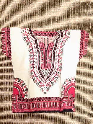 Dashiki, Pink and White (XL)