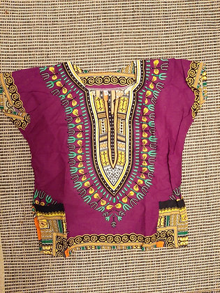 Purple and Pink Dashiki (Medium)