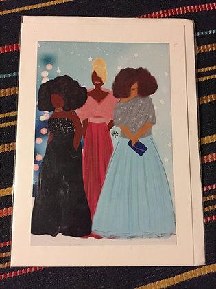 Greetings card - three women