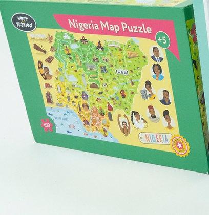 GIANT NIGERIA MAP PUZZLE, 100 pieces