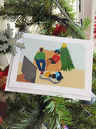 Christams card - family