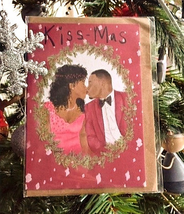 "Christmas card - ""Kiss-Mas"""