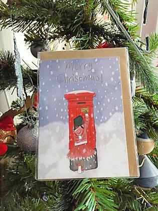 Christmas card - post box