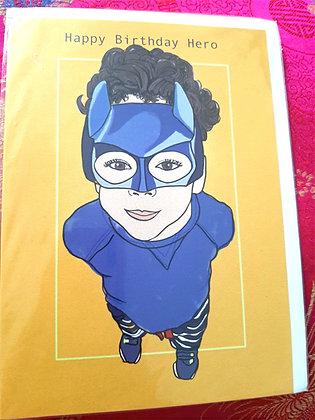 Greeting card, Superhero