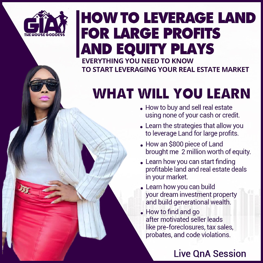 How to Leverage Land for Large Profits and Equity Plays (1)