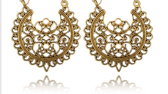 Vintage Earring - Gold