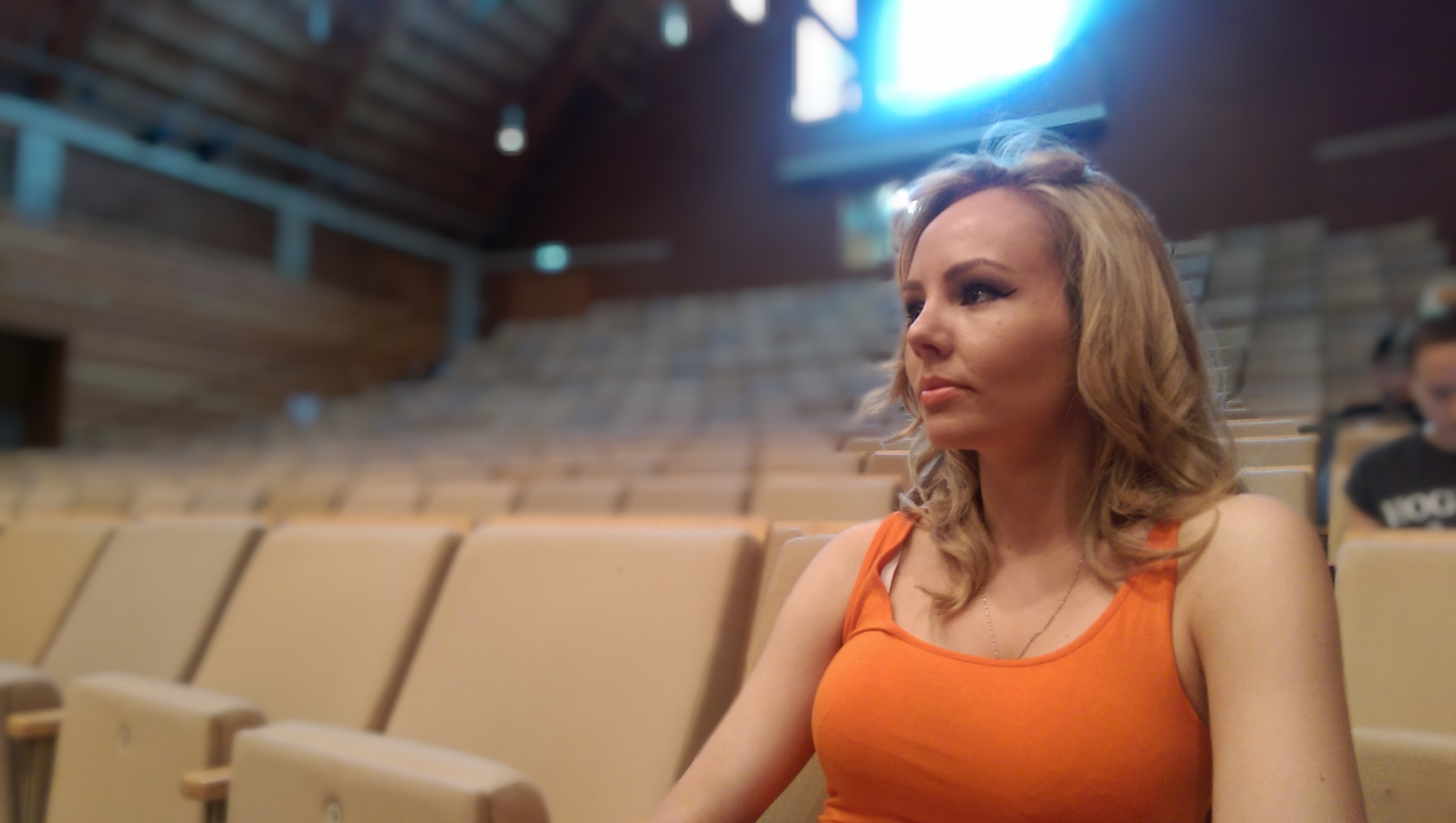 Jenna in rehearsals