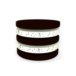 3Chocolate sponge with cookies and cream