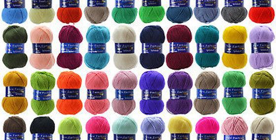 Woolcraft New Fashion Double Knit - Acrylic Yarn - 100g Balls