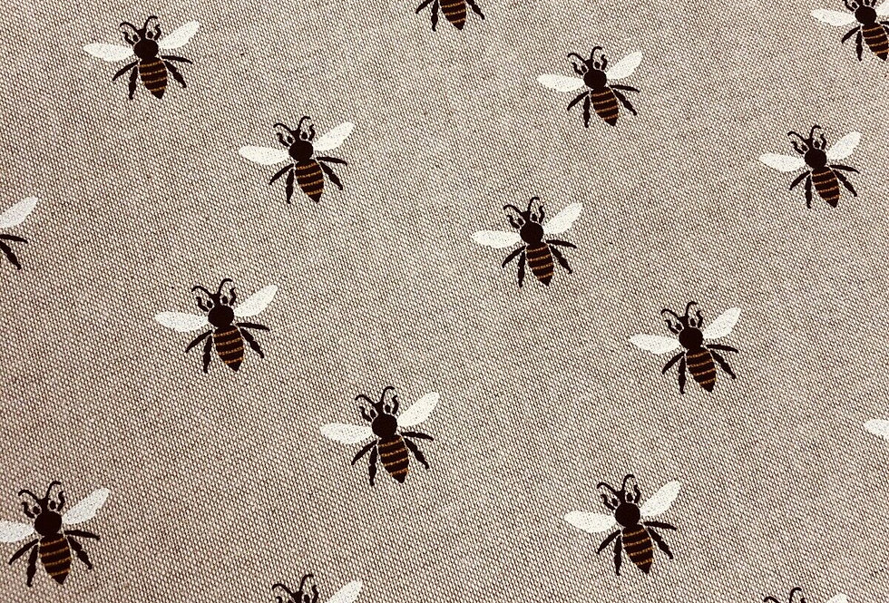 Popart Bees - Linen Look Canvas Fabric