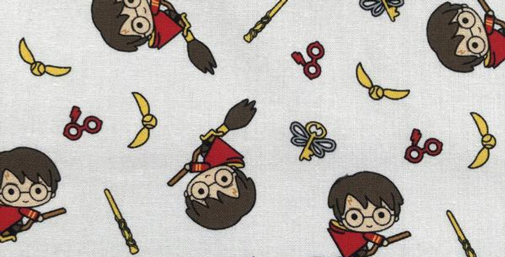 Harry Potter - Kawaii Broomstick - 100% Craft Cotton