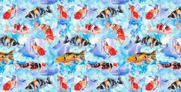 Gold Fish - Digitally Printed 100% Craft Cotton