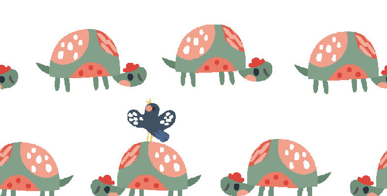 Wild About You! - Tortoise & Butterfly - 100% Craft Cotton