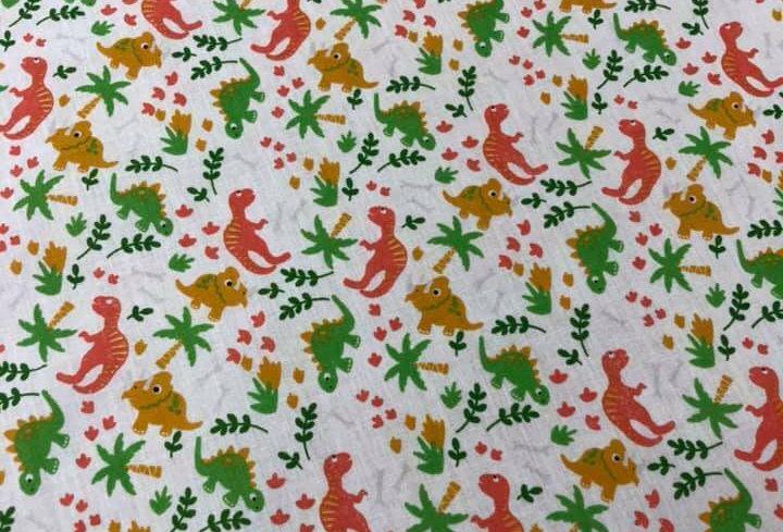 Dinosaurs Printed Polycotton Fabric (62)