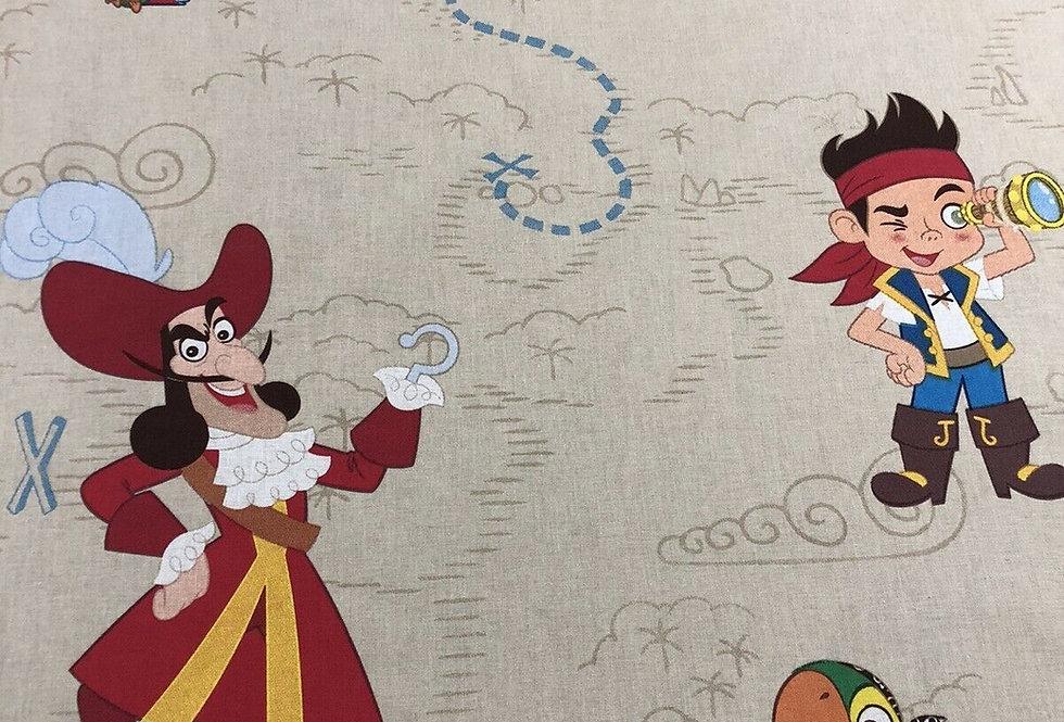 Jake & the Neverland Pirates Disney 100% Craft Cotton