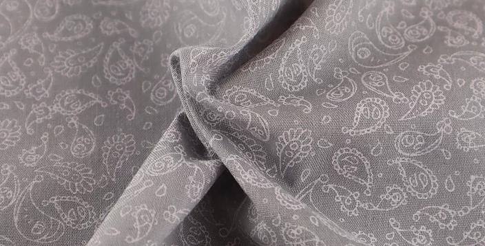 Paisley Printed Polycotton Fabric (43)