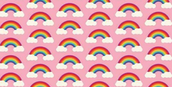 Rainbows & Clouds - Digitally Printed 100% Craft Cotton