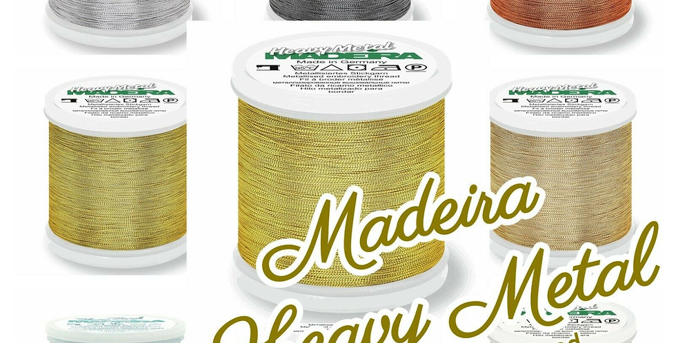 Madeira Heavy Metal No.30 Metallic Embroidery Thread - 200m Spool