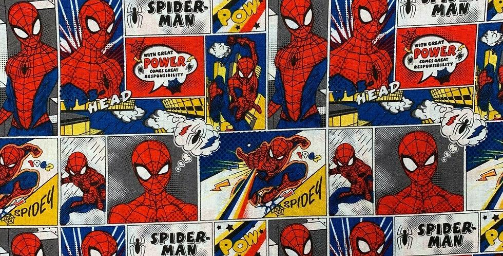 Spiderman - Comic Strip - 100% Craft Cotton