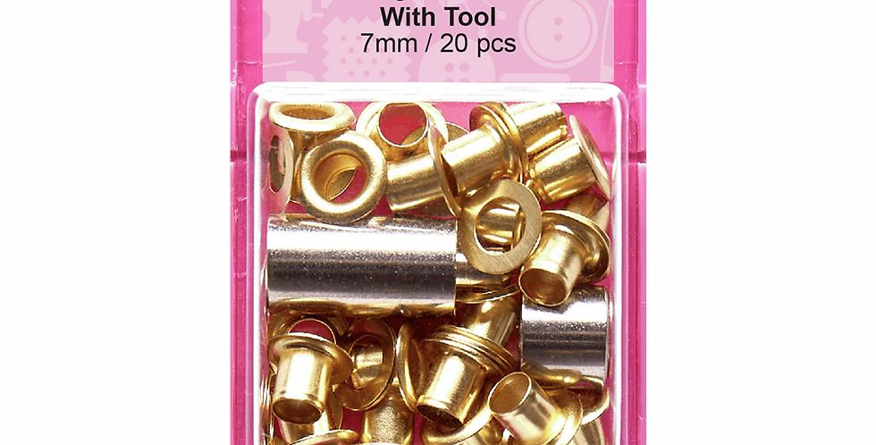 Hemline Eyelets with Tool - 7mm