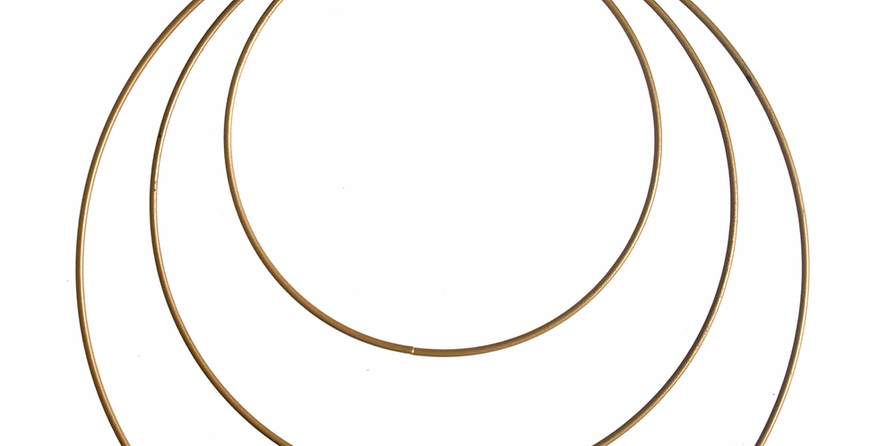 Metal Craft Hoops - 15-25cm 3 Sizes Gold
