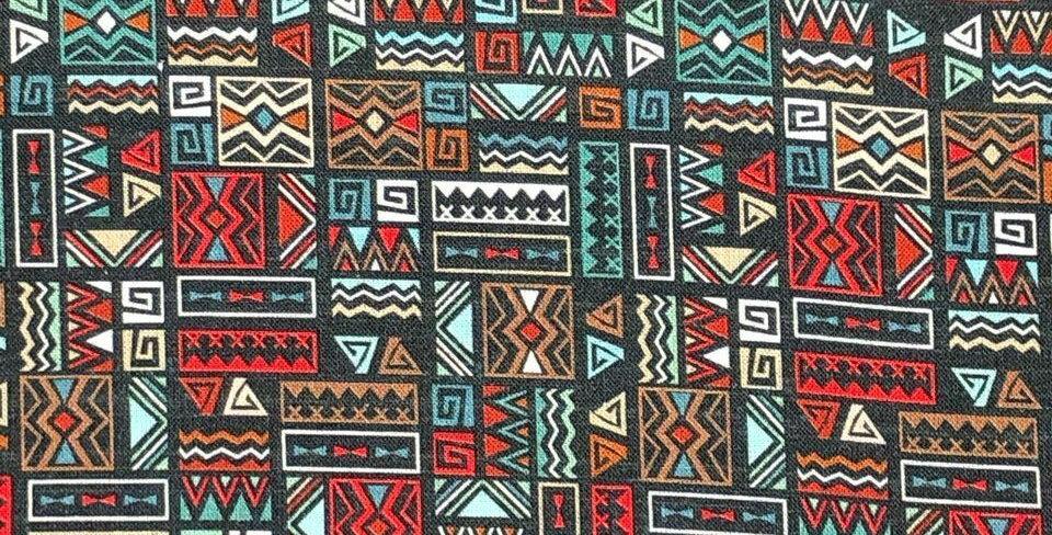 Aztek Blue/Multi - Digitally Printed 100% Craft Cotton