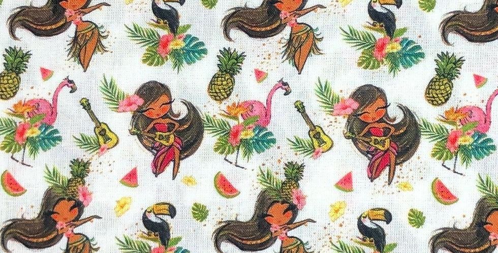 Tropical Girl - Digitally Printed 100% Craft Cotton