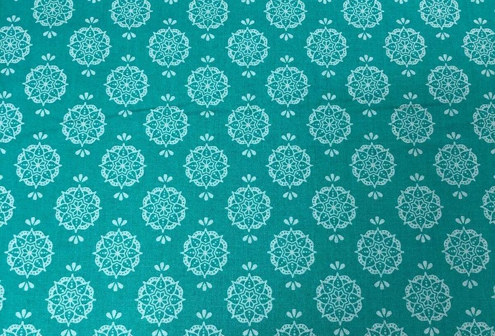 Debbie Shore New Delhi - Indian Stamp Jade - 100% Craft Cotton