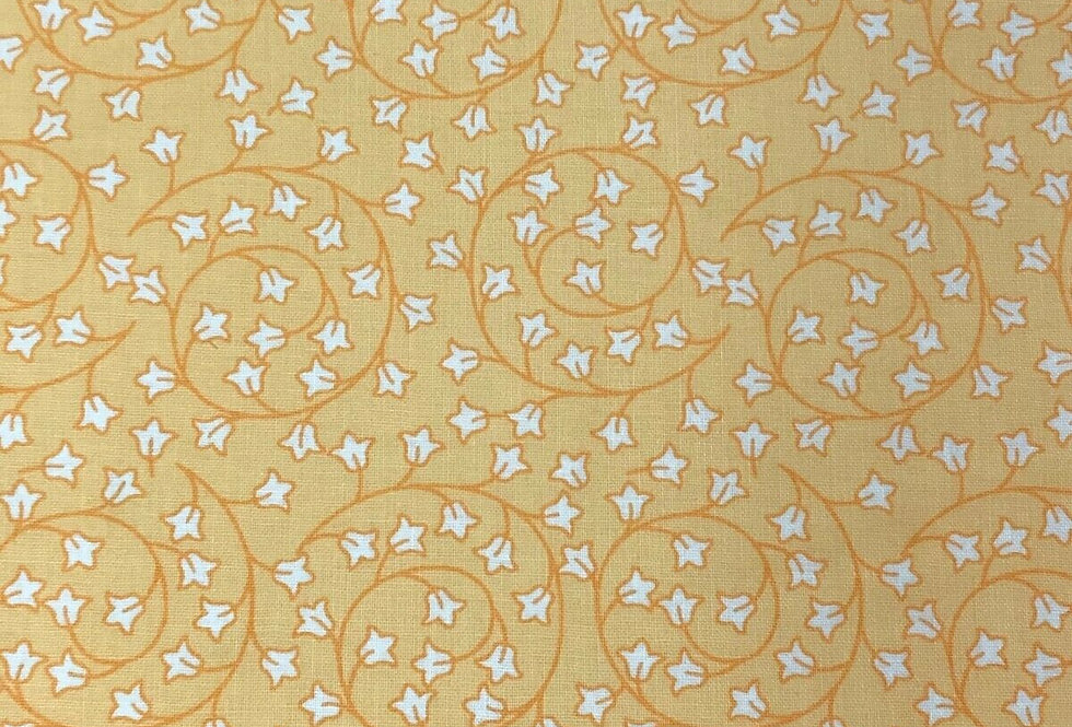 Debbie Shore New Delhi - Vine Leaves Yellow - 100% Craft Cotton