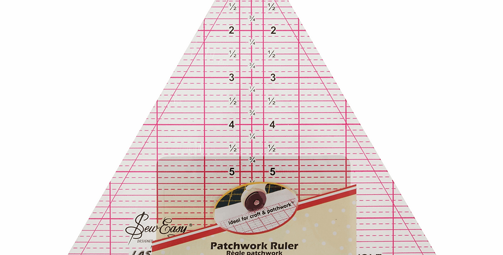 Sew Easy Patchwork Triangle Ruler - 60 Degree - 8 x 9.25in