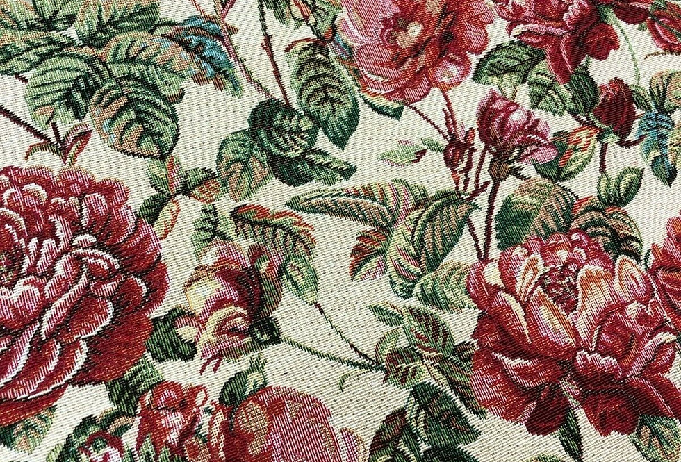 Floral Rose Tapestry Fabric
