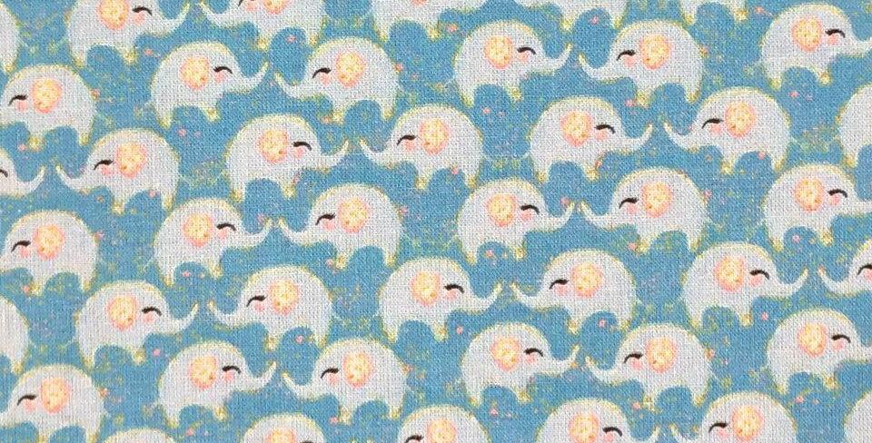 Elephants - Baby Harmony - Digitally Printed 100% Craft Cotton