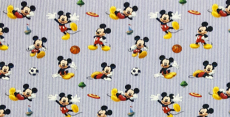 Sporty Mickey Mouse Disney 100% Craft Cotton  - Digitally Printed
