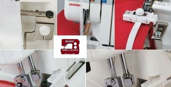Janome Overlock Machine Attachment Set A, Taping, Cording, Gathering, Elastic