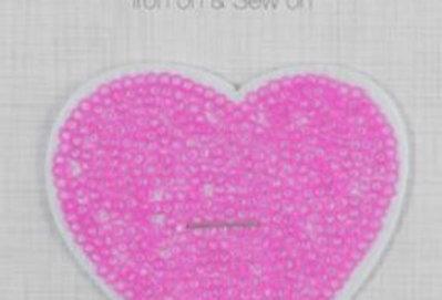 Sparkle Pink Heart - Iron on Motif