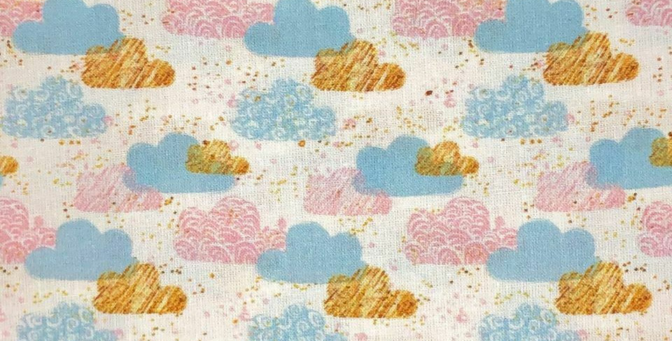 Clouds - Baby Harmony - Digitally Printed 100% Craft Cotton