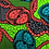 Thumbnail: 'Bright Cross Chains' African Wax Fabric