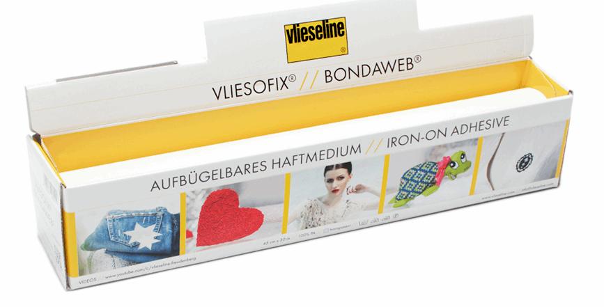 BONDAWEB Vliesline Vliesofix 45cm - Iron On Adhesive