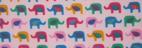 Elephants Polycotton Fabric (26)